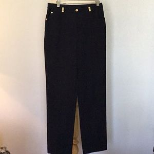St. John navy straight leg trouser pants, sz 8